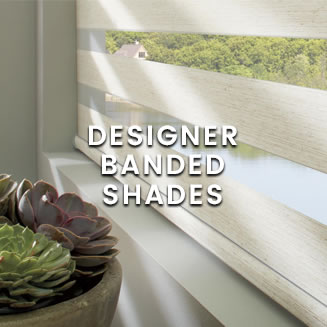 calico Hunter Douglas - Designer Banded Shades