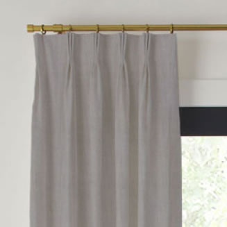 Textured Linen Blend Pinch Pleat Drapery