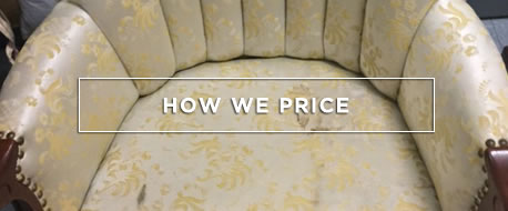 Reupholstery - How we price