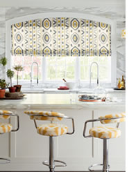 Custom window treatments and chair upholstery