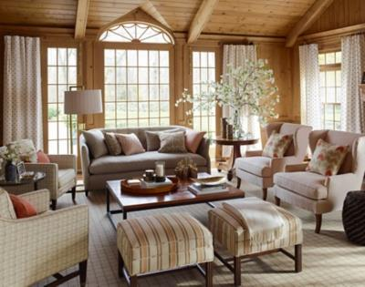 Stylish Living Room Featuring Nate Berkus Fabrics