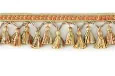 "Decorative Trim 3 1/4"" Tassel Fringe W/ Glass Bead"