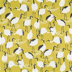 Winter Crane - Dwellstudio Golden Rod