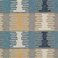 Kilim Panel - Robert Allen Fabrics Denim