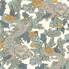 DR6301 - Dwellstudio Wallpaper - Ming Dragon