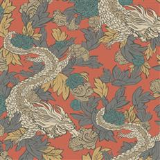 DR6303 - Dwellstudio Wallpaper - Ming Dragon