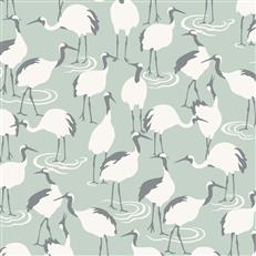 DR6356 - Dwellstudio Wallpaper - Winter Cranes