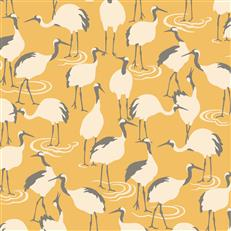 DR6357 - Dwellstudio Wallpaper - Winter Cranes