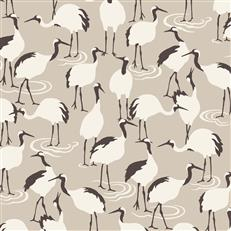 DR6358 - Dwellstudio Wallpaper - Winter Cranes