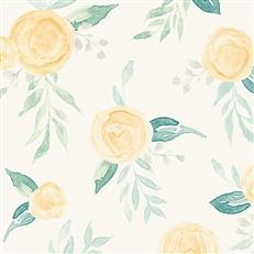 MK1127- Magnolia Home Wallpaper - Watercolor Roses