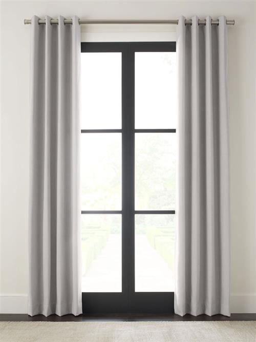 "Drapery 108""L X 48""W-Black Grommet-Emporio-Pewter - Single Panel"