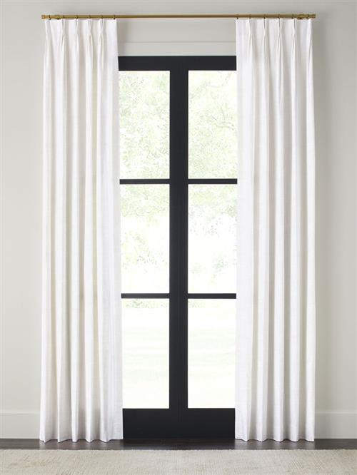 "Drapery 120""-Pinch Pleat-Wexford - White - Single Panel"