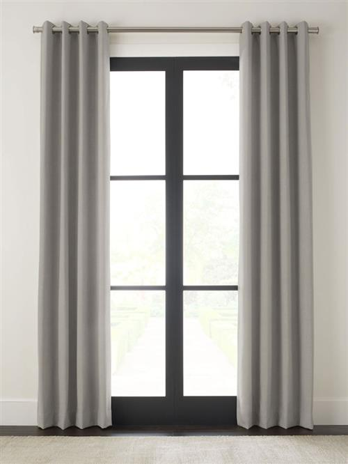 "Drapery 90""-Atq Brass Grommet-Wexford - Cement - Single Panel"