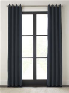 "Drapery 96""L X 48""W-Matte Grommet-Emporio-Navy - Single Panel"