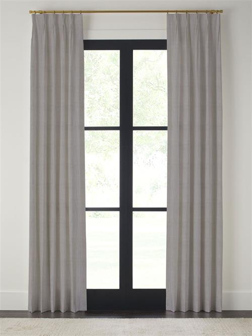 "Drapery 96""-Pinch Pleat-Emporio - Pewter - Single Panel"