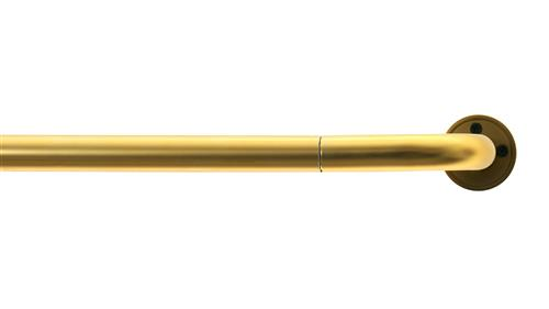 "3/4"" Rod Set W/Bent Return -6' L-Matte Brass"