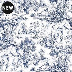 Dutton Toile - Navy
