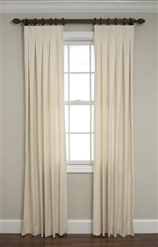 Inverted Box Pleated Drapes