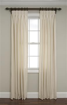 Inverted Pinch Pleated Drapes