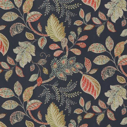 Autumn Leaves Navy Fabric