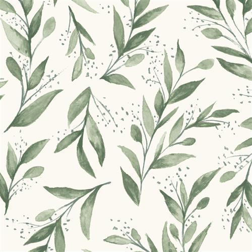 Me1535 Magnolia Home Wallpaper Olive Branch