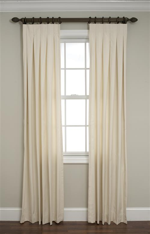 Calico Inverted Box Pleated Drapes