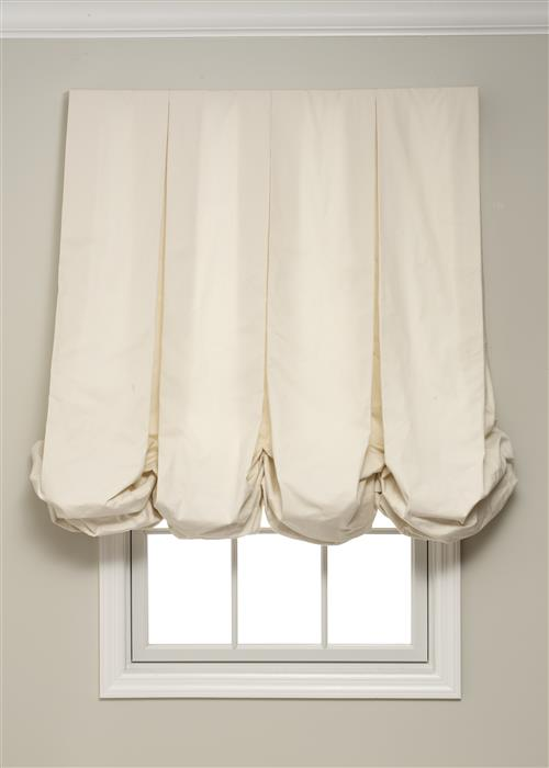 Calico Pleated Balloon Shades