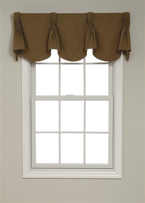 Calico queen anne valances for Queen anne windows
